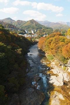 諏訪峡 紅葉(2)(みなかみ町)