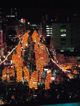 秋田竿燈祭り1