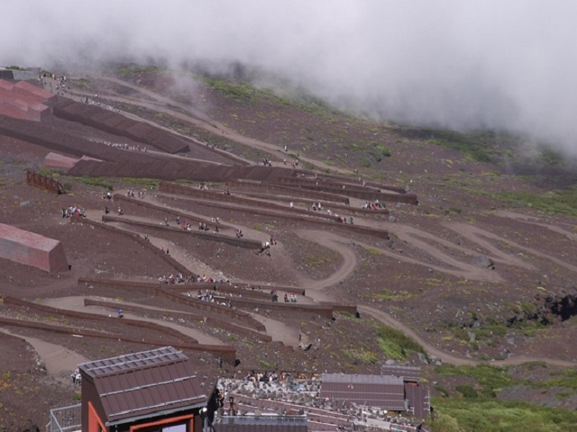 Fuji mountain climbing