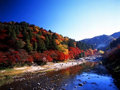 15香嵐渓全景