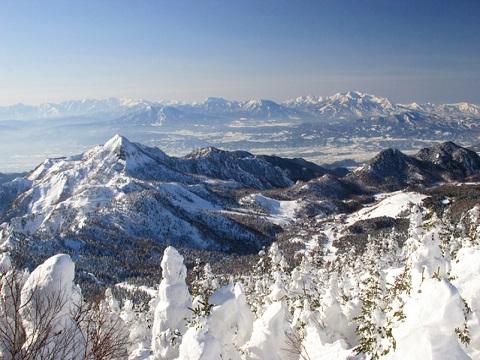 横手山から笠ヶ岳