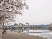 Pleasure boats on the Mikuma River and Ukai