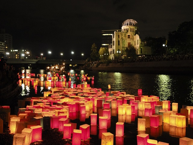 Floating of Lanterns with Peace Messages